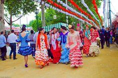 Trajes de Flamenca Andalucía, Sevilla, Lebrija