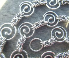 Byzantine Spiral Single Strand Handmade Silver by betsyresnick