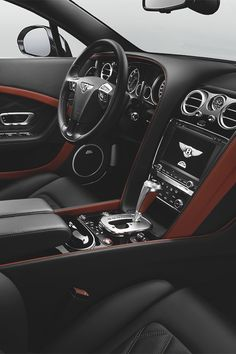 Black Bentley interior.
