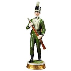 Handmade Handpainted British Soldier Figurines From Germany Are Based On Decorative Themes That Were Particularly Popular In The Century Scully And Scully, Military Figures, British Soldier, Toy Soldiers, Martial, Porcelain, Punk, Hand Painted, Popular