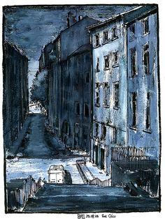urban sketch by bruno molliere