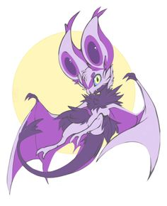 Stylised Noibat from Pokemon, one of the first inspirations for my bat character. Pokemon Comics, Pokemon Funny, All Pokemon, Pokemon Fan Art, Pokemon Stuff, Pokemon Images, Pokemon Pictures, Pokemon Fusion, Digimon