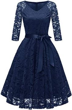 online shopping for Chowsir Women Fashion V-Neck Formal Lace Evening Party Prom Midi Dress from top store. See new offer for Chowsir Women Fashion V-Neck Formal Lace Evening Party Prom Midi Dress Elegant Dresses, Pretty Dresses, Casual Dresses, Short Dresses, Fashion Dresses, Formal Dresses, Cocktail Dress Prom, Womens Cocktail Dresses, Evening Dresses Uk