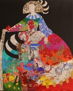 meninas3 Decoupage, Zentangles, Color Splash, Austria, Bedrooms, Patches, Collage, Pastel, Textiles
