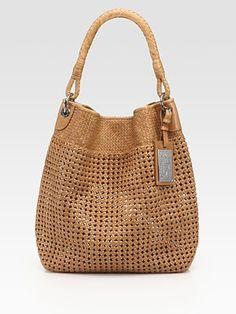 Ralph Lauren Collection Woven Leather Hobo $1450.00