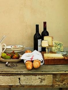 Wine, cheese, fruit and bread - could life get any better than that?