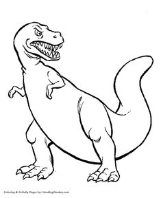 Celebrate with this Tyrannosaurus Rex Coloring Page Free