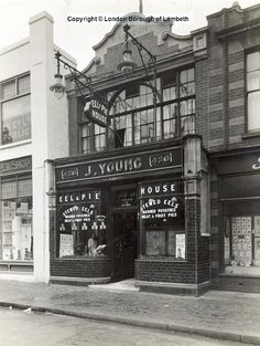 Brixton history - J Young Eel and Pie restaurant, 426 Coldharbour Lane, Brixton SW9 8LF, now Gyozo Chinese and Japanese restaurant, Lambeth, London