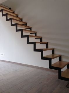 some image Staircase Metal, Loft Staircase, Modern Staircase, House Stairs, Home Stairs Design, Interior Stairs, Loft Design, House Design, Steel Railing Design