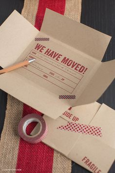 Free Printable: vintage airmail moving announcement