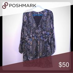 Free People Dress Never been worn lace up and long sleeve dress! Free People Dresses Long Sleeve