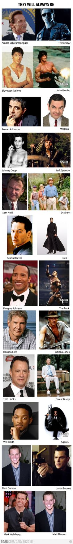 Well... yes and no. Johnny Depp is not just Jack Sparrow to me, and Will Smith will always be Fresh Prince. As for Mark Wahlberg, as a 90s kid I will always think of him as Marky Mark.