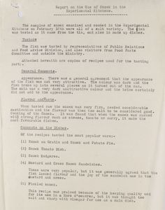 Report on the use of snoek, a South African tinned fish tested in the Ministry of Food's canned fish division  February 1948  Catalogue reference: MAF 256/88