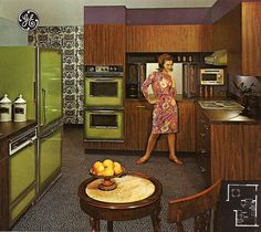 Wow, fancy kitchen back in the day, late 60s early 70s I'd guess...