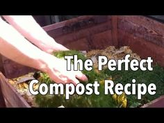 Compost is the very best food you can give to the plants in your garden. However, making really great compost requires the right mix of ingredients. In this video we demonstrate how to create that perfect recipe from the ingredients you have at home. Garden Compost, Vegetable Garden, Compost Tea, Organic Gardening, Gardening Tips, Flower Gardening, Old Farmers Almanac, Garden Planner, Growing Tomatoes