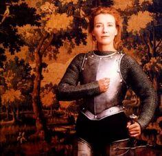 Emma Thompson as Joan of Arc - by Annie Leibovitz (1996)