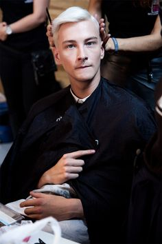 Benjamin Jarvis// Backstage @ Matthew MillerFall/Winter 2014 (London)