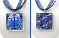 SOLD: Owl Theme Pendant Commission 03.11.2012 by sharrashina.deviantart.com on @deviantART