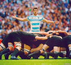 SCRUM AND GET ITAn impatient Argentina scrum-half Tomas Cubelli watches one of six first-half set pieces at Wembley Stadium, where Los Pumas lead world champions New Zealand at the interval. More shocks in store in the next 40 minutes? Rugby Sport, Rugby Men, Rugby League, Rugby Players, Pumas, Rugby Workout, Nz All Blacks, Beefy Men, Rugby World Cup