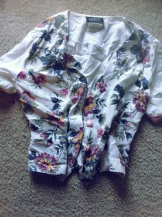 Floral button up shirt by craftyoyster on Etsy, $1.00