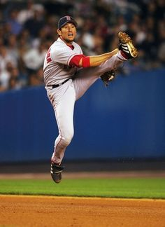 Nomar Garciaparra - SS - #15 (Pictured with the Boston Red Sox)