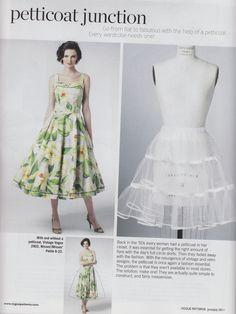 Gertie's New Blog for Better Sewing: Crinoline Tutorial in Vogue Patterns Magazine (Summer 2011?)