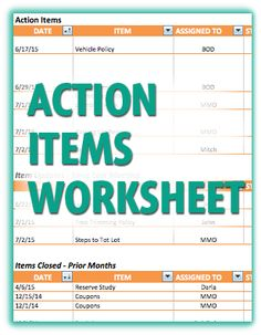 These letters are useful for any cam who wants to be open with their use this action item worksheet to help prevent important tasks from falling through the cracks fandeluxe Gallery
