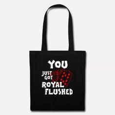 Poker Shirt Geschenk mit Royal Flush Herz As König Stoffbeutel   Spreadshirt Poker, Reusable Tote Bags, Shirts, Accessories, Sachets, Heart, Gifts, Dress Shirts, Shirt