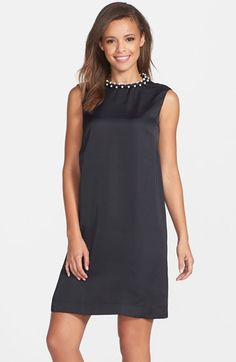 French Connection Embellished Shift Dress available at #Nordstrom
