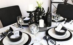 1940s+Inspired+Black+and+White+Theme+Party+Decor+Ideas