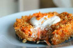 Oatmeal-carrotcake for breakfast.