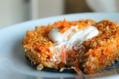 Oatmeal-carrotcake for breakfast.