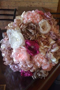 My DIY Fabric Flower Bouquet « Weddingbee Boards