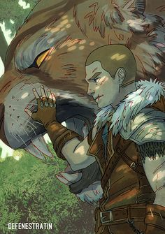 Men in fantasy art — defenestratin:   WIPES SWEAT OFF FOREHEAD HI GUYS...