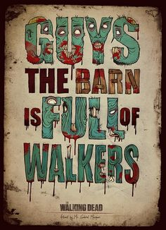 The Walking Dead typography. Brilliant.