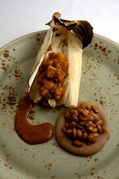 Frog Leg Tamal, Cascabel Chile from Rick Bayless at Topolobampo in #Chicago