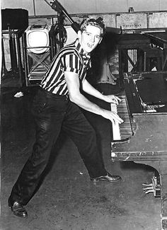 Jerry Lee Lewis. Absolutely, one hundred percent insane. But my god....the man is talented at what he does.