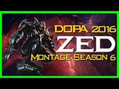 High Elo Zed Montage Season 6 / Dopa (Apdo) / League of Legends 2016