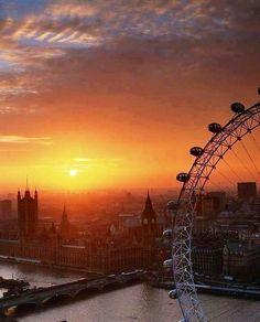 London, England. Beautiful sunrise http://www.babybirdguide.com/london
