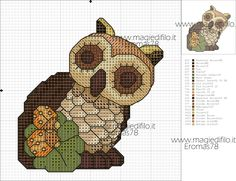 This photo is undeniably a notable style approach. Cross Stitch Owl, Beaded Cross Stitch, Cross Stitching, Cross Stitch Patterns, Owl Patterns, Pearler Beads, Animal Decor, Forest Animals, Plastic Canvas Patterns