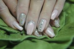 My bling nails with one of our new Defianze  spring g colours and the mega popular Champagne Truffle