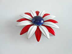 Vintage Brooch/Pin  Vintage Red White and Blue by ConstantlyAlice, $12.00