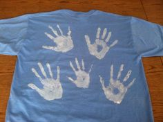 "LDS Missionary Teeshirt. Let your missionary know you have his/her back! :) I came up with this idea recently and am sending it to my missionary son for his birthday this month. Our family put our handprints (in laundry safe fabric paint) on the back of a teeshirt. We're going to include a card or tag that says, ""Remember D&C 84:88--and that we have your back!"""