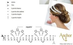 Crochet Eedding Headband - Chart ❥ 4U // hf