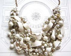 Grueso Rhinestone perla collar hecho pedir por AllThingsTinsel