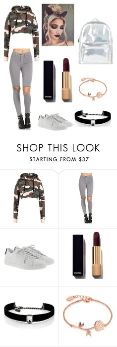 """Camo crazy 😜"" by jessica-jude17 ❤ liked on Polyvore featuring Yves Saint Laurent, Kenneth Jay Lane, Disney and Accessorize"