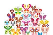 Butterfly vector icons