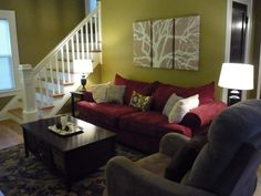 red sofa decor on pinterest red couch decorating red sofa and red couches. Black Bedroom Furniture Sets. Home Design Ideas