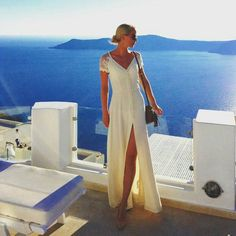 @odaandresen looked so beautiful in #JarloLondon #SS15 #Lucia maxi dress in cream for this beautiful pictorial during her holidays around The Greek Islands ❤! Thank you for choosing #Jarlo, we're so in love!!