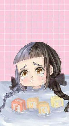 But i don't fucking care Mel bby lockscreen by me please give me credits if you use my drawing. They call me cry baby cry baby Melanie Martinez Style, Melanie Martinez Anime, Melanie Martinez Drawings, Crybaby Melanie Martinez, Cry Baby, Mealine Martinez, Collage Des Photos, Fanart, Baby Drawing